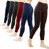 6 Pack Seamless Fleece Lined Leggings for Women - Winter, Workout &...