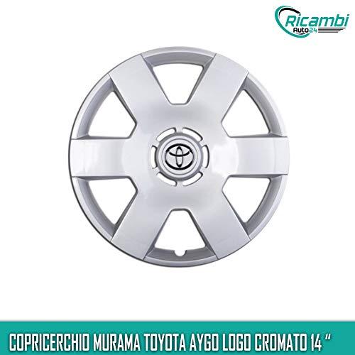 Murama Aygo Copricerchio Coppa Ruota Logo Cromato 14' cod. 6402/4