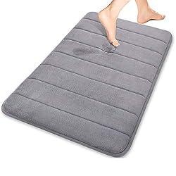 TOPY Non Slip Memory Foam Bath Mat