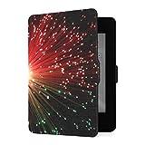 Funda para Kindle Paperwhite 1 2 3, Cables de Fibra óptica de Color Rojo, Verde, Funda de Cuero PU con Smart Auto Wake Sleep para Amazon Kindle Paperwhite (se Adapta a Las Versiones 2012, 2013, 2015)