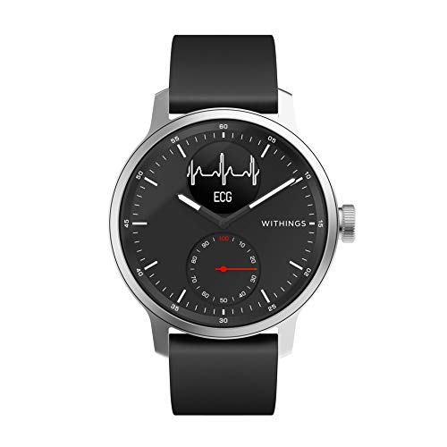 Withings ScanWatch - Reloj inteligente híbrido con ECG, tensiómetro...