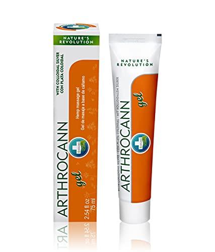 ARTHROCANN Gel de cáñamo para masaje y alivio de músculos y articulaciones - Fórmula natural calmante con aceite de cannabis y plata coloidal