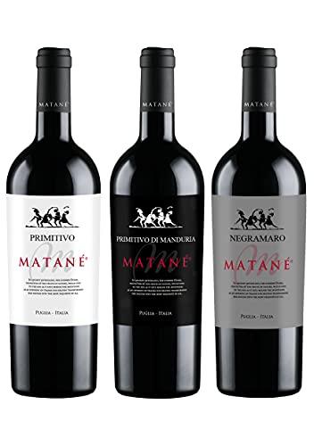 Cassa mista vini rossi - Negramaro, Primitivo, Primitivo di Manduria  3 Bottiglie  0,75L
