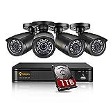 Anlapus H.265+ Système de Sécurité, Full HD 1080P 8CH DVR Enregistreur...