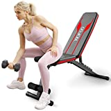 YIOFOO Adjustable Weight Bench, Compact Workout Bench for Home Gym Training, Foldable Incline...