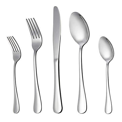 LIANYU 20 Piece Silverware Flatware Cutlery Set, Stainless Steel...