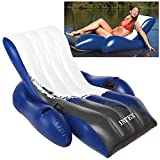Intex Floating Recliner Inflatable Lounge, 71in X 53in, Multicolor