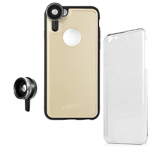 【 レンズ装着ケース + 交換レンズ セット 】 hvYourOwn 日本正規品 iPhone6s / iPhone6 4.7 inch 対応 GoLensOn Case QUICK-IN PHOTO KIT EXPRESS Pack, Champagne Gold ゴーレンズオン ケース クイック イン フォト キット エクスプレス パック ( 0.65倍 広角ワイド + 10x マクロ ), シャンパン ゴールド H-QKIH647-DCM0-A
