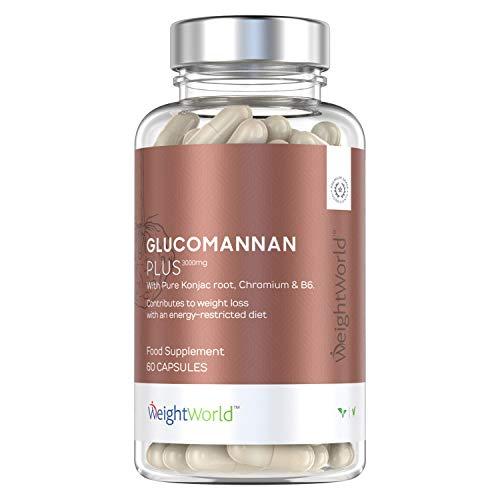 Glucomanano Plus 3000 mg - Inhibidor Del Apetito, Suplemento