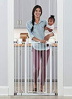 EXTRA TALL: Stands 41 Inches Tall. Expands to fit openings between 29-36.5 inches wide. Please be sure measure your opening prior to purchase to ensure proper fit. EASY TO USE AND SET UP: Pressure mount design that is quick to set up. Please note, be...