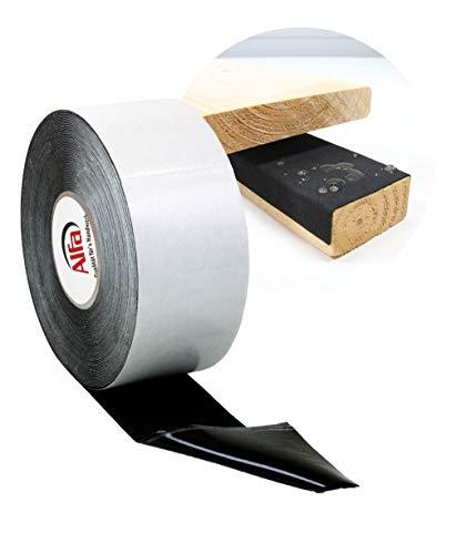 Abdeckband Holz & Unterkontruktionen - einseitig selbstklebendes Terrassen-tape - Niederschlagschutz 80 mm x 1 mm x 20 m (1)