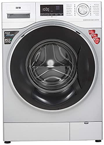 IFB 8kg Fully-Automatic Front Loading Washing Machine (Senator WXS, Silver, Inbuilt Heater, Aqua...
