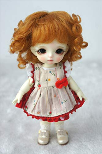 Doll Wigs JD012 Sophia Baby Wave Mohair BJD Doll Wigs (Ginger, 5-6inch)