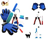 Brosse Anti Poils Animaux Kit Toilettage Magique avec 2 Gant Peigne Anti...