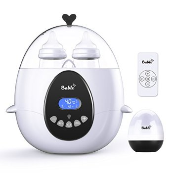 Bable Baby Bottle Warmer, Multipurpose Smart Bottle Warmer with Remote Control & LCD-Display of Real-time and Target Temperature