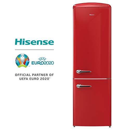 Hisense RB419D4AR2 Frigorifero Combinato, 322 Litri, 40 Decibel, Rosso