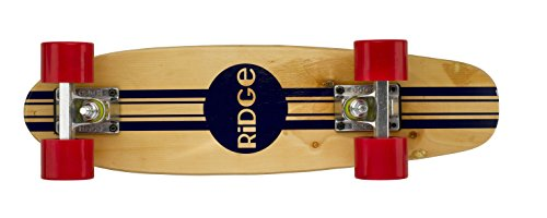 "Complete 55cm Maple Wooden Retro 22"" Mini Cruiser Board by Ridge Skateboards"