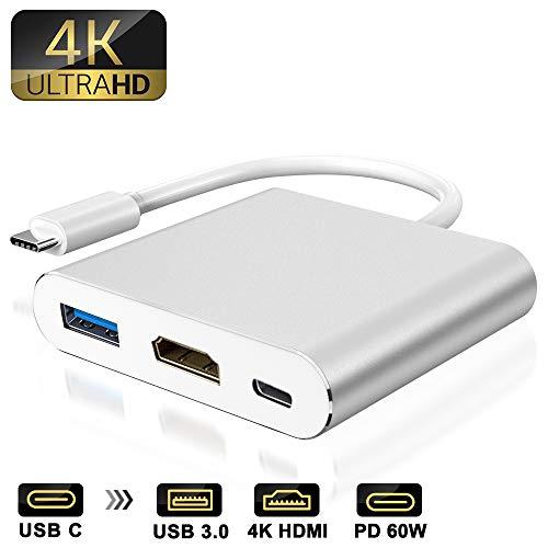 weton Adattatore da Tipo C a HDMI Hub Multiporta Typ C con USB 3.0 e 60W USB C 3.1 PD Porta di...