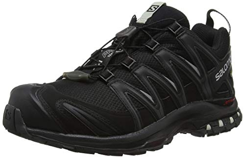 Salomon Women's Trail Running Shoes, XA PRO 3D GTX W, Colour: Black/Black/Mineral Grey, Size: UK size 5.5