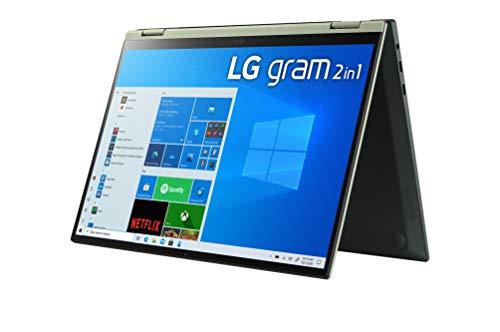 "LG - Portátil gram 14T90P-G.AA78B Windows 10 Home, Convertible 2en1 Ultraligero de 35.5 cm (14"") WUXGA 16:10 IPS (1.2 Kg, 16.5h, Intel EvoTM i7 11ª Gen, Iris Xe, 16GB RAM, 512GB SSD NVMe), Negro"