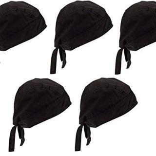 Zacharias Men's Cotton Anti Pollution Under Helmet Bandana (Black) -Pack of 5