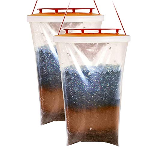 NOVA LAUS Fly Trap Red Top, Trappola per Mosche, Confezione da 2, Transparent, 2 Traps