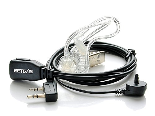 Retevis Funkgerät Headset 2 Pin Kopfhörer Ohrhörer Kompatibel mit Walkie Talkie Retevis RT24 RT22 RT21 RT27 BAOFENG BF-888S BF-88E Kenwood (1 Stück)