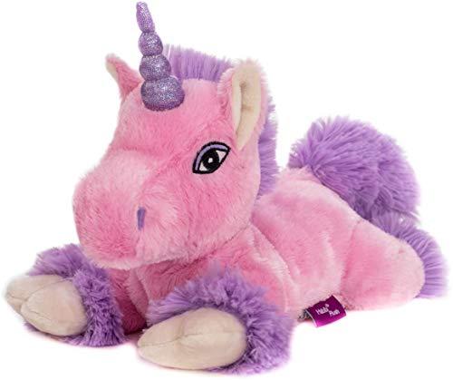 Habibi Premium-Unicornio Rosa-Lila purpurina Cuerno, cojín de calor extraíble
