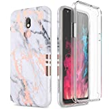 SURITCH Case for LG Stylo 5, [Built-in Screen Protector] Cute Geometric Marble Soft TPU Full Body Protection Shockproof Anti-Scratch Rugged Bumper Protective Cover for LG Stylo 5 (Gold Marble)