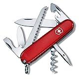 Victorinox Camper Taschenmesser mit (13 Funktionen, Holzsäge, Korkenzieher), rot, in Blister