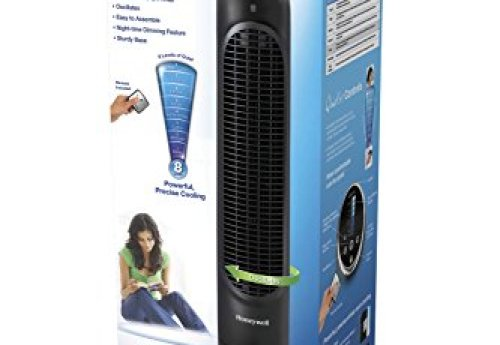 Honeywell QuietSet Whole Room Tower Fan-Black, HYF290B, Black, Black