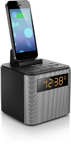 Relógio Despertador com Speaker Philips AJT3300/37 com Bluetooth/USB Bivolt Cinza/Preto
