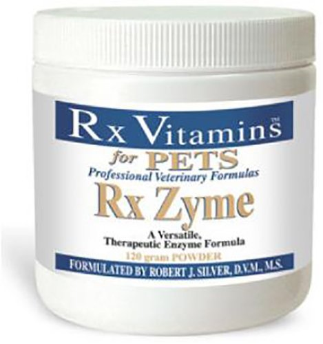 Rx Vitamins for Pets Rx Zyme for Dogs & Cats - Help Gastrointestinal Discomfort - Add to Food - 120g Powder