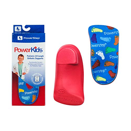 Powerstep Kid's PowerKids Shoe Insoles, Blue, Youth Size 1.5-2.5