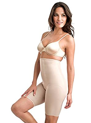 Triple-layer front panel for increased tummy control. Tapers midthigh. Wonderful Edge® is a patented silicone edge that eradicates lines and prevents ride up for a flawless appearance. Cotton gusset. 82% nylon, 18% spandex;Gusset: 92% cotton, 8% span...
