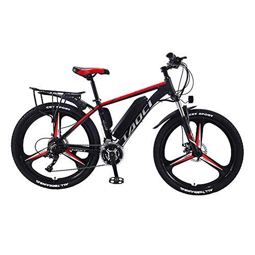 Hyuhome Vélos électriques pour Adultes, en Alliage de magnésium eBikes Vélos Tout Terrain, 26' 36V 350W 13Ah Amovible au Lithium-ION pour Hommes Montagne Ebike,Rouge,13Ah80Km