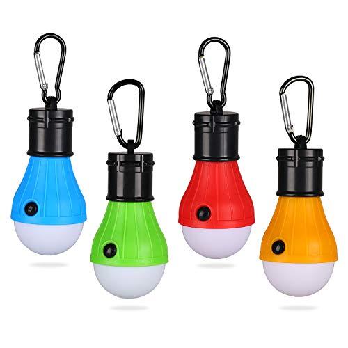 Yizhet Lot de 4 Lanterne de Camping LED Lanterne Lampe LED Torche 3 Mode de...