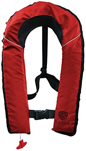 SALVS Automatic Inflatable Life Jacket for Adults | PFD for Fishing, Kayaking, Sailing | Life Vest for Men & Women | Red
