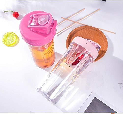 HUANDATONG Tazza di Spazio Bottiglia Acqua Bollitore Sportivo per Fitness da Uomo E Donna Bollitore Portatile in Plastica Cup-Red_500Ml-1000Ml