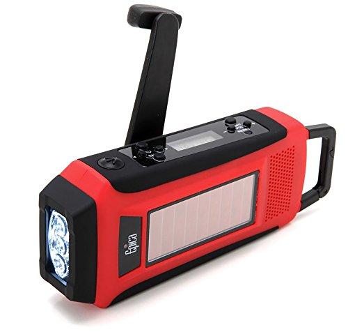 Epica Digital Emergency Solar Hand Crank AM/FM/NOAA Radio,...