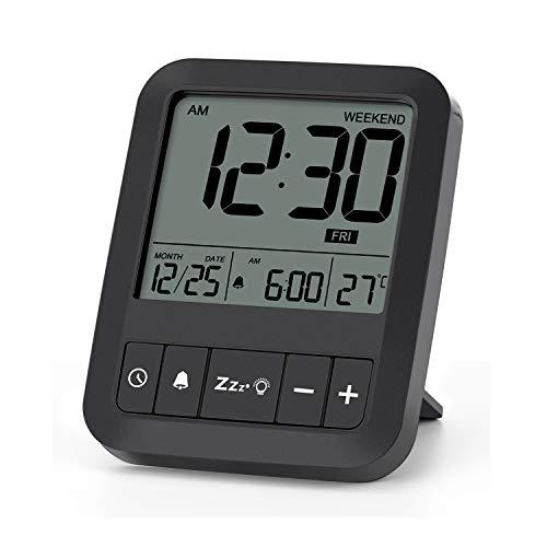 LIORQUE Mini Réveil Digital Horloge Numérique Reveil de Voyage avec la...