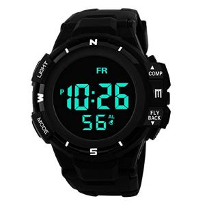 Sport Watch, 50M Waterproof Watch, Sport Wrist Watch for Men Women Kids, Digital Watch with Alarm Date and Time 42