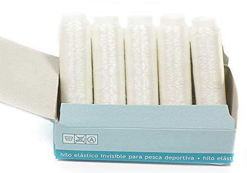 Matsa Esca extra ad alta resistenza, filo da pesca elastico (0,1 mm) (Contine 2 confezioni), unisex, per adulti, trasparente, 2000 m