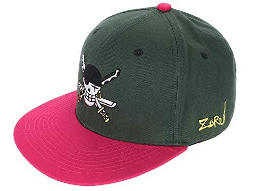 CoolChange Cappellino da Baseball di One P con Jolly Rogers di Lorenor Zorro