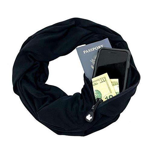 Écharpe de voyage Alftek-Infinity-Avec une poche-Pour femme...