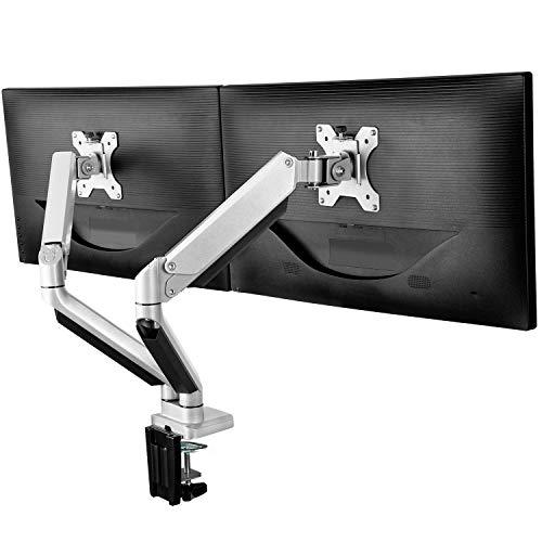 ErGear Soporte Monitor Doble para 13'-32' Monitor con Resorte de...