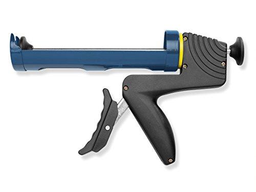 Colorus Profi Kartuschenpresse 310 ml   Kartuschenpistole halboffen mit drehbarem Griff   Silikonpresse mit langem Hebel für optimale Anwendung   Auspresspistole Acrylpresse Silikonpistole