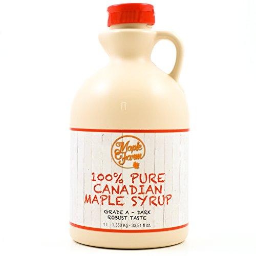 MapleFarm - Puro sciroppo d'acero Canadese. Grado A, Dark - 1 Litro - Pure maple syrup - sciroppo...