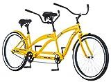 Kulana Lua Single Speed Tandem Cruiser Bike, 26-Inch Wheels, Yellow