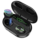 Wireless Earbuds Bluetooth 5.0 with Charging Case,IPX8 Waterproof TWS Earphones in-Ear,LED Battery Display 120H Playtime,Noise-Cancelling Headset with Deep Bass Stereo Sound Earbuds with Microphone